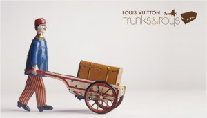 Louis Vuitton trunks and toys
