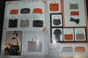 orange, grey, black - anya handbag